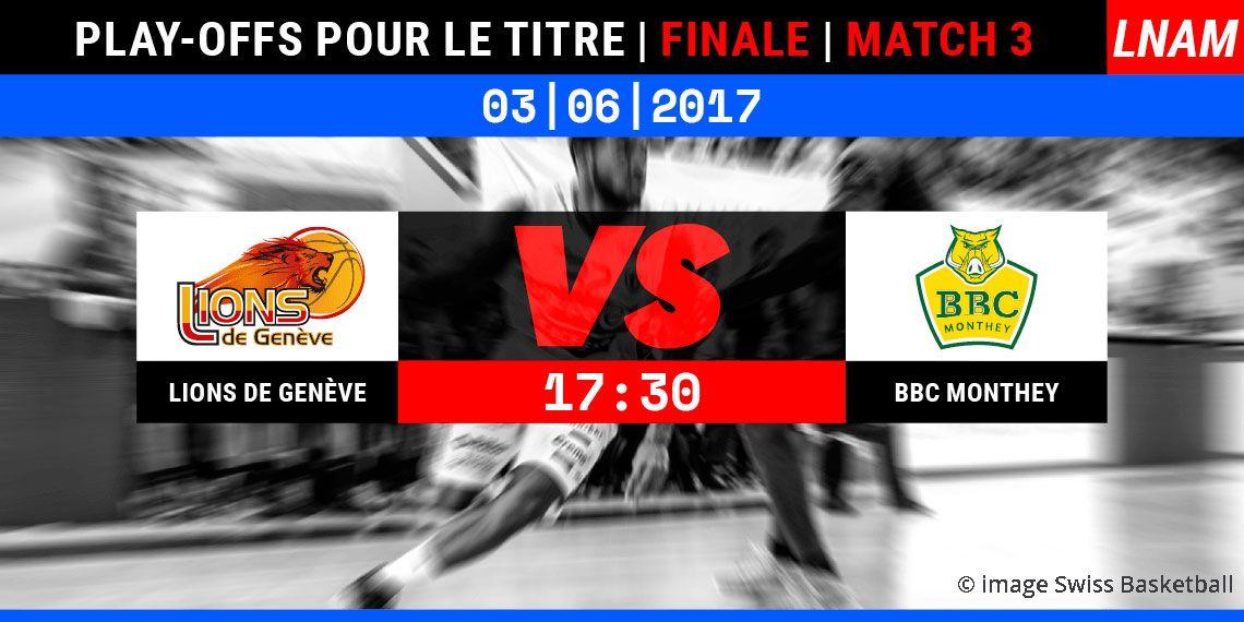 Lions de Genève en finale © image Swiss Basketball