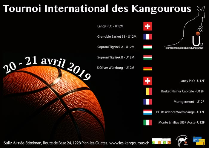 Affiche Lancy Tournoi International des Kangourous U12